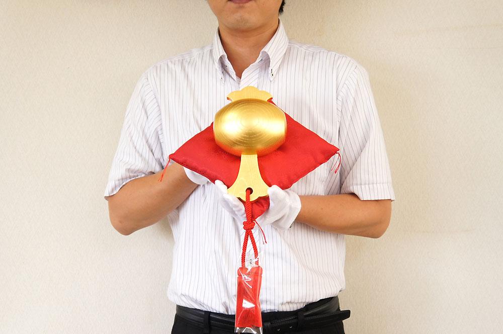 純金箔製福こづち弐号